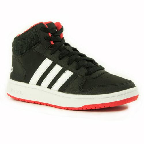 Adidas Neo Hoops Mid K Junior Fiú Száras Cipő